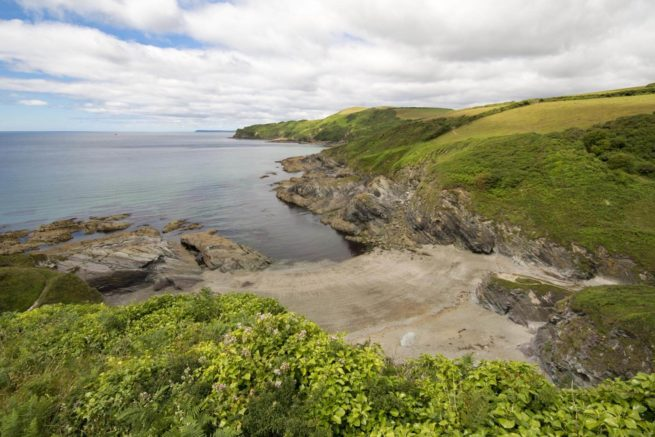 Lansallos-Beach-Pencarrow-Head-Near-Polperro-Looe-Local-Area-Cornwall