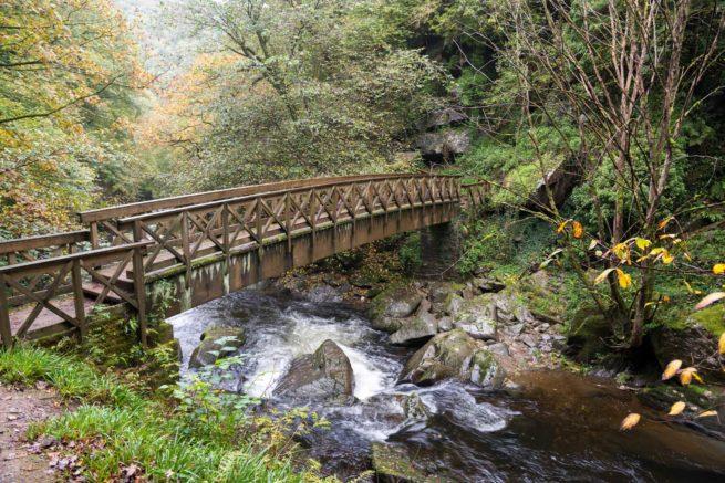 Bridge over the East Lyn River near Lynmouth in Devon